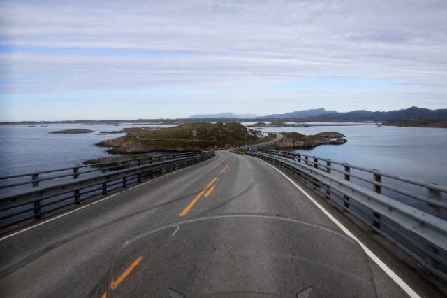 View from the top of the bridge on the Atlantic Ocean Road